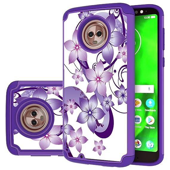 check out ecac1 fe48b Moto G6 Case,Yiakeng Dual Layer Waterproof Hard Slim Glitter for Girls  Women Wallet Phone Cover Cases for Motorola Moto G (6th Generation) 5.7
