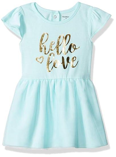 71b3146dc Gerber Baby Girls Dress, Hello Love, 0-3 Months