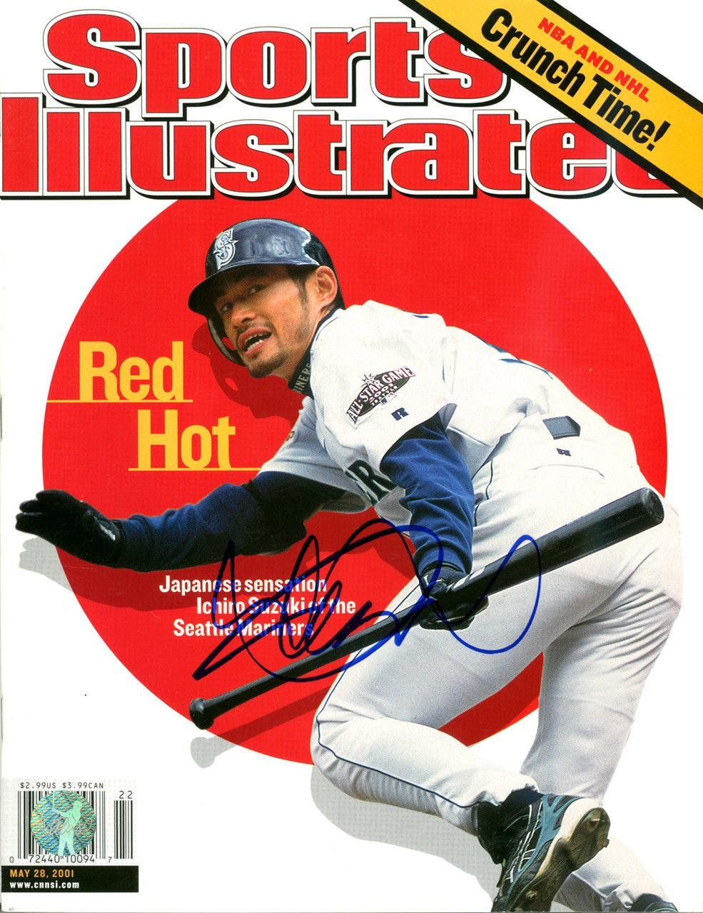 Ichiro Suzuki Autographed Signed Sports Illustrated Mariners 1st S.i. Is 125214 Autographed MLB Magazines