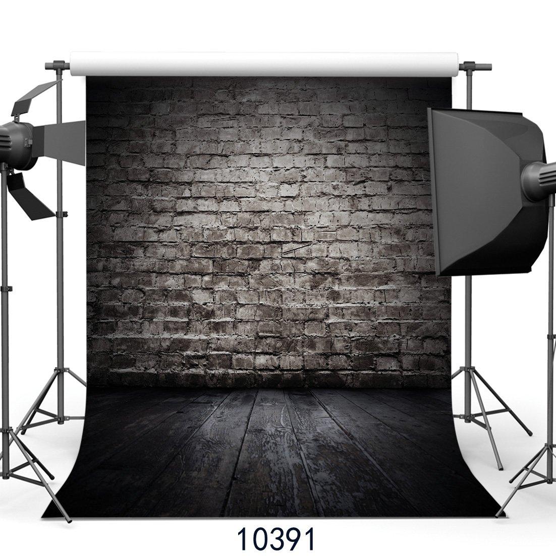 SJOLOON 8x8フィート ビンテージレンガ壁 床写真背景ビニール写真背景幕 スタジオ小道具JLT10391   B01MSNZ2FM