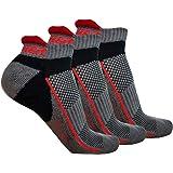Ogeenier Men's Low Cut Cushioned Running Athletic Socks Anti-Odor Cotton No Show Sport Socks 3 Pack