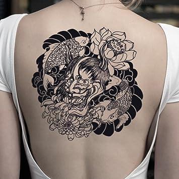 Tatuaje Temporal de Hannya Mask y Koi Fish (2 Piezas) - www ...