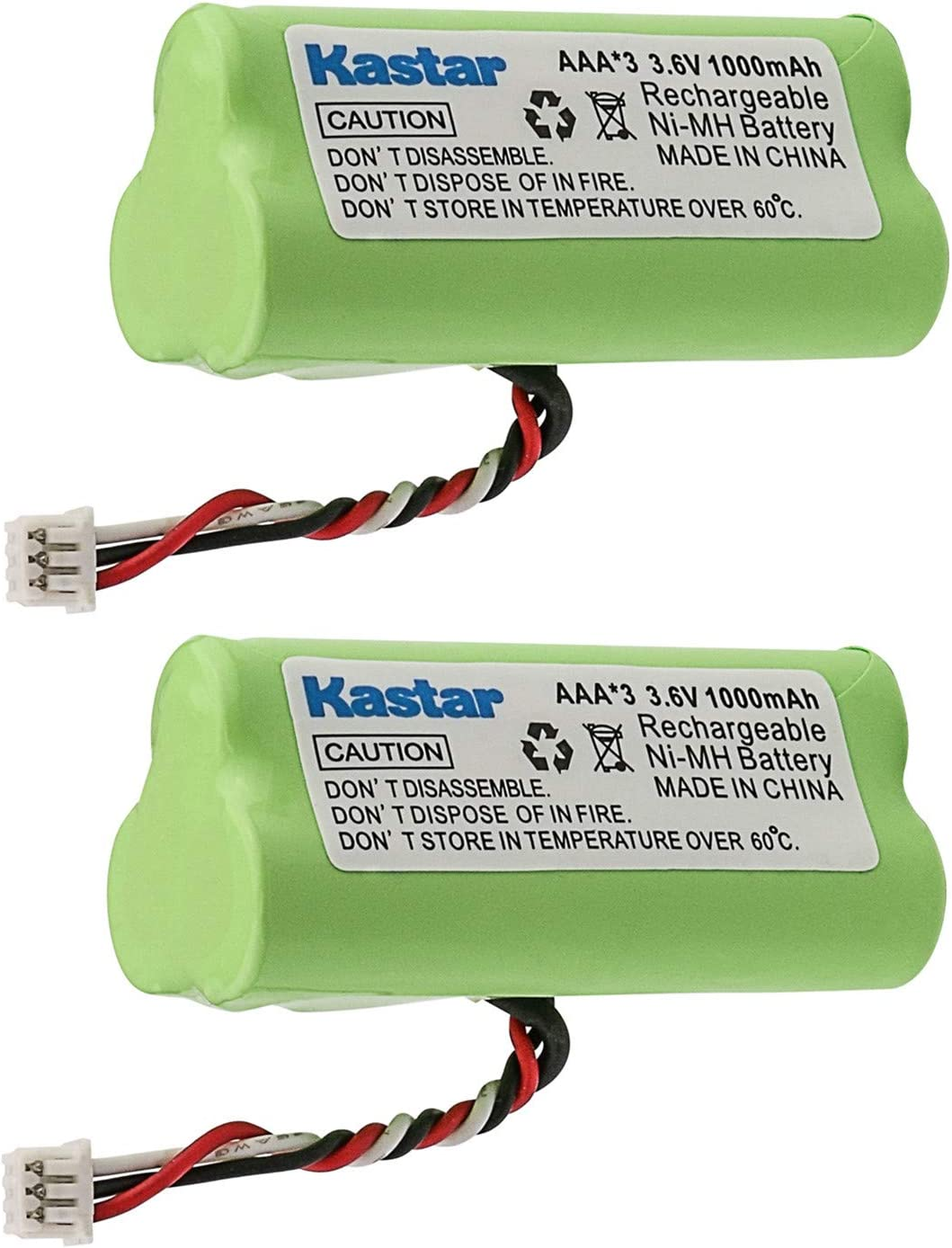 Kastar 2-Pack AAA 3.6V 1000mAh Ni-MH Rechargeable Battery Replacement for Zebra/Motorola Symbol 82-67705-01 Symbol LS-4278 LS4278-M BTRY-LS42RAAOE-01 DS-6878 Cordless Bluetooth Laser Barcode Scanner