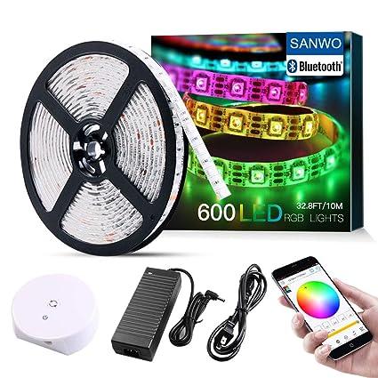 Amazon.com: Kit de tiras de luz LED, RGB 600 LEDs ...