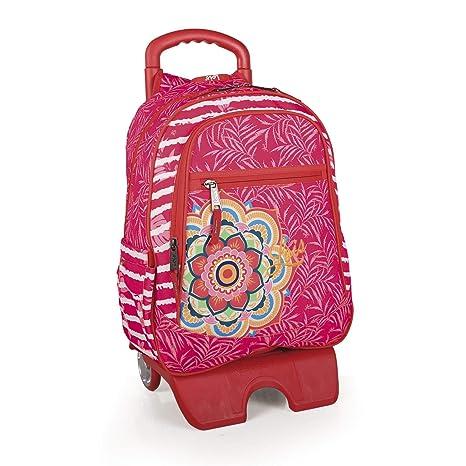 Lois - Mochila Escolar con Ruedas Infantil para Niña Grande. Carro Trolley Extensible. Asa