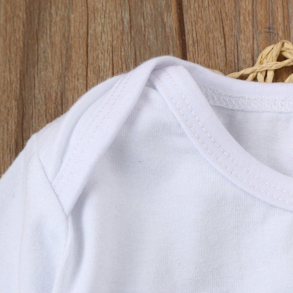 0-24 M Babykleidung Loveso Sommerkleider Herbst Kleidung Daddys Girl Elk Elch Muster Baby M/ädchen Haarband Top Hosen Set Langarm Shirt