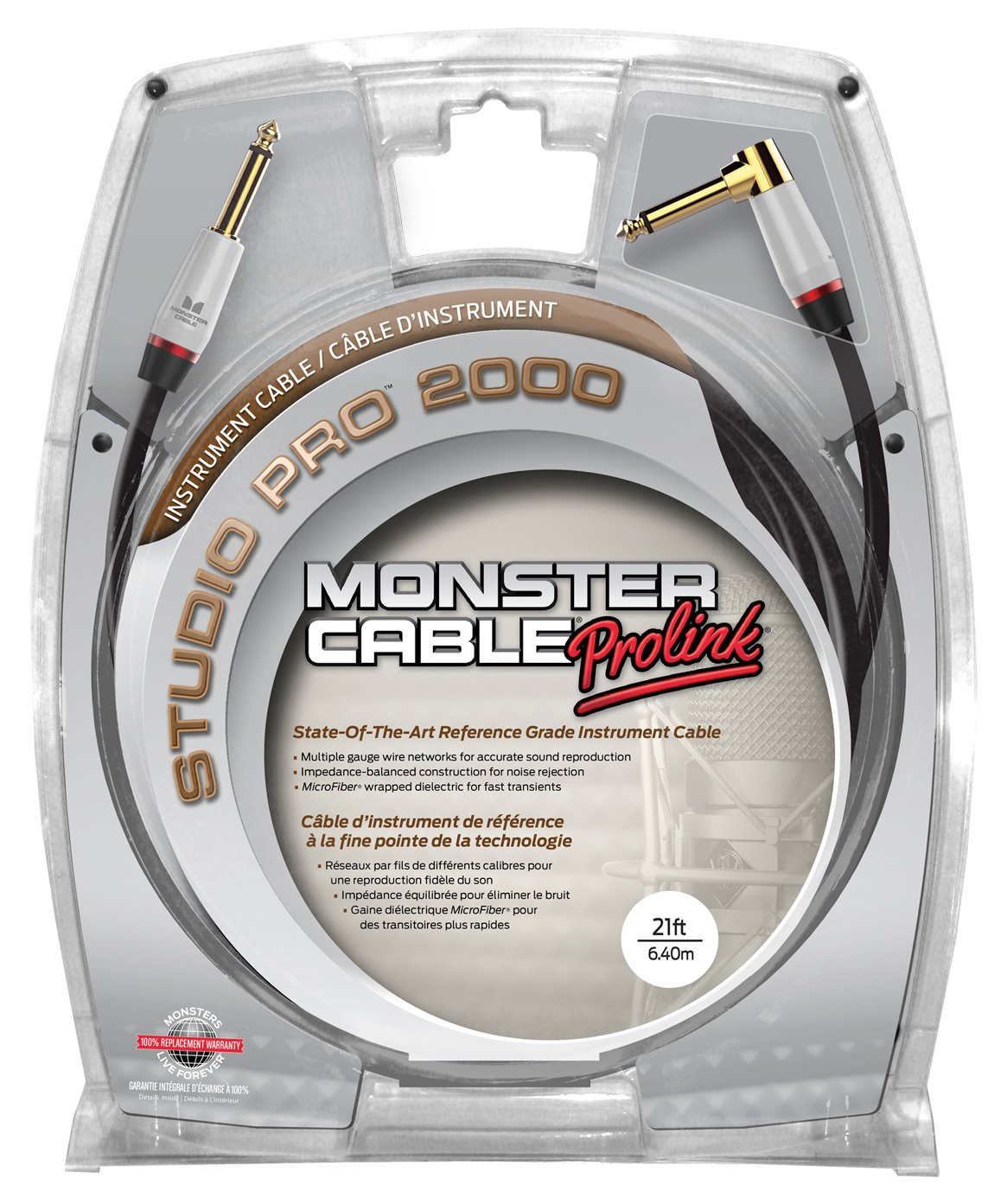 Monster SP2000-I-21A - 21' Studio Pro 2000 Instrument Cable