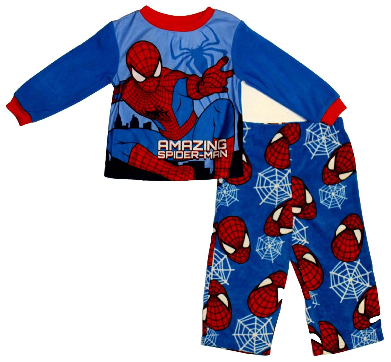 87071dfa18 Marvel The Amazing Spiderman 2 Little Boy s 2 Piece Fleece Pajama ...