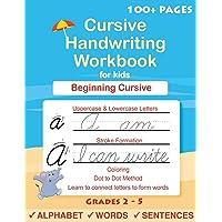 Cursive Handwriting Workbook For Kids: Cursive for beginners workbook. Cursive letter...