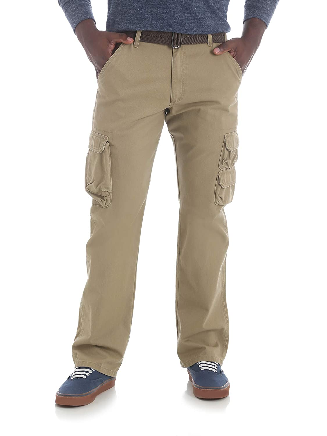 f2bf34ad Top7: Wrangler Men's Twill Cargo Pants with Belt (Khaki, Size 30 x 32)