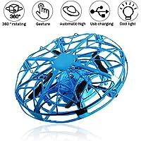 SeeKool Mini UFO Drone,Ricarica USB Palla Volante Giocattolo Aerei ad Induzione ad Infrarossi Rotanti a 360 ° con luci a LED, Giochi al Coperto e All'aperto per Bambini,Regali Creativi