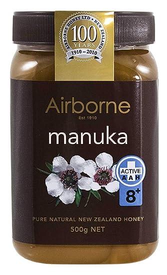 Airborne (Nueva Zelandia) de miel de Manuka 80 + 500 g/17.85 ...