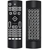 Air Maus mit Tastatur, FeBite 2.4GHz LED Hintergrundbeleuchtung Mini Drahtlose Tastatur, IR Lernfunktion Fernbedienung, für PC HTPC Raspberry Pi IPTV Smart TV Android TV Box Media Player
