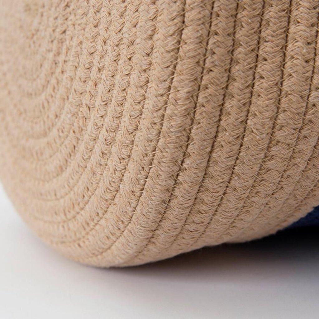 Aufbewahrungstaschen Xuan - - - Worth Another Baumwolle Thread Kampf Farbe Schmutzig Wäschekorb Ablagekorb Spielzeug Box Rattan Weave (größe   Groß) 18ac22
