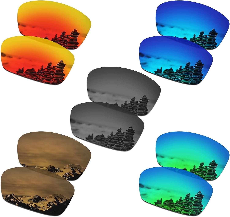 SmartVLT Set of 5 Men's Replacement Lenses for Oakley Hijinx Sunglass Combo Pack S02