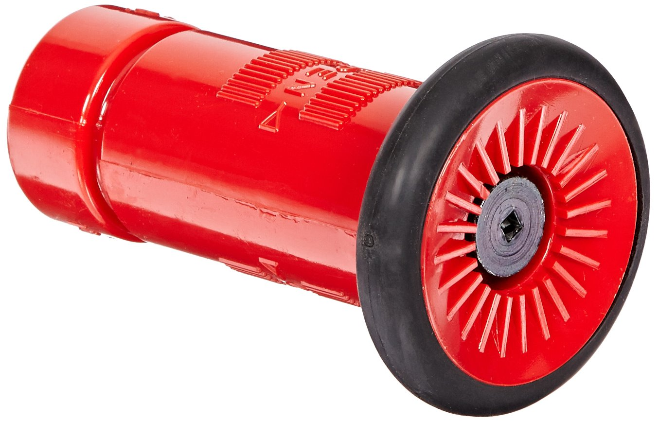 Moon 517-102 Polycarbonate Fire Hose Nozzle, Fog, 22 gpm, 1' NH 1 NH Moon American