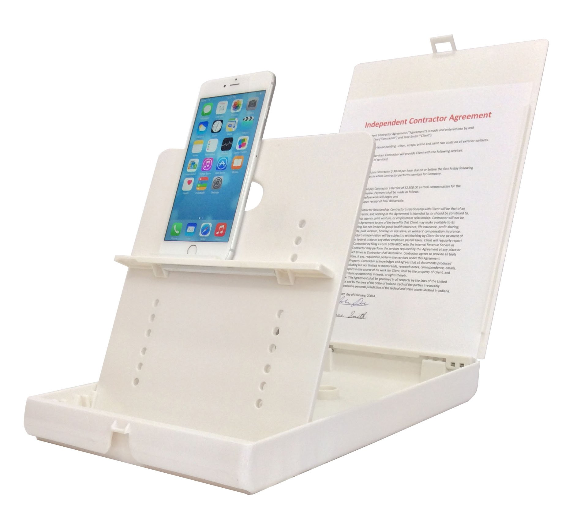 ScanJig Pro Plus - Document Scanning Stand - Phones/Tablets - Extended Tablet Support (e.g, iPad Pro) + Book Scan Bracket. Helps Those who are Blind, Visually Impaired or Have Fine Motor Difficulties by ScanJig