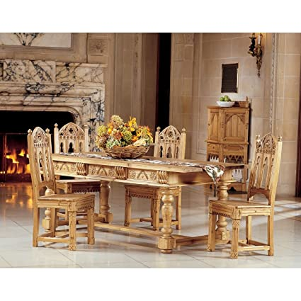 Amazon.com: Hand-carved Signature Piece Solid Pine Dining ...