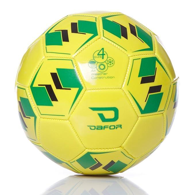 Dafor Balón Fútbol Turf Trainning Amarillo(Talla: 4): Amazon.es ...