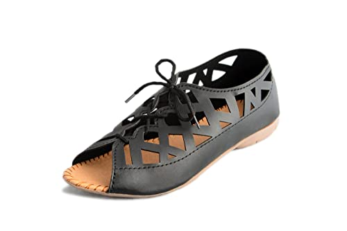 b23a2ce0f8525 Myra Women s Laser Cut Fashion Sandals  Buy Online at Low Prices in ...