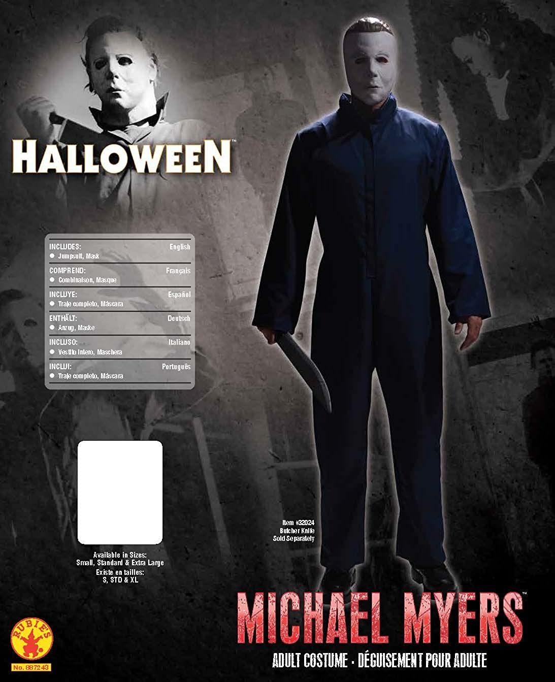 Amazon.com: Rubies Halloween Movie Michael Myers Jumpsuit and Mask, Black, Standard: Toys & Games
