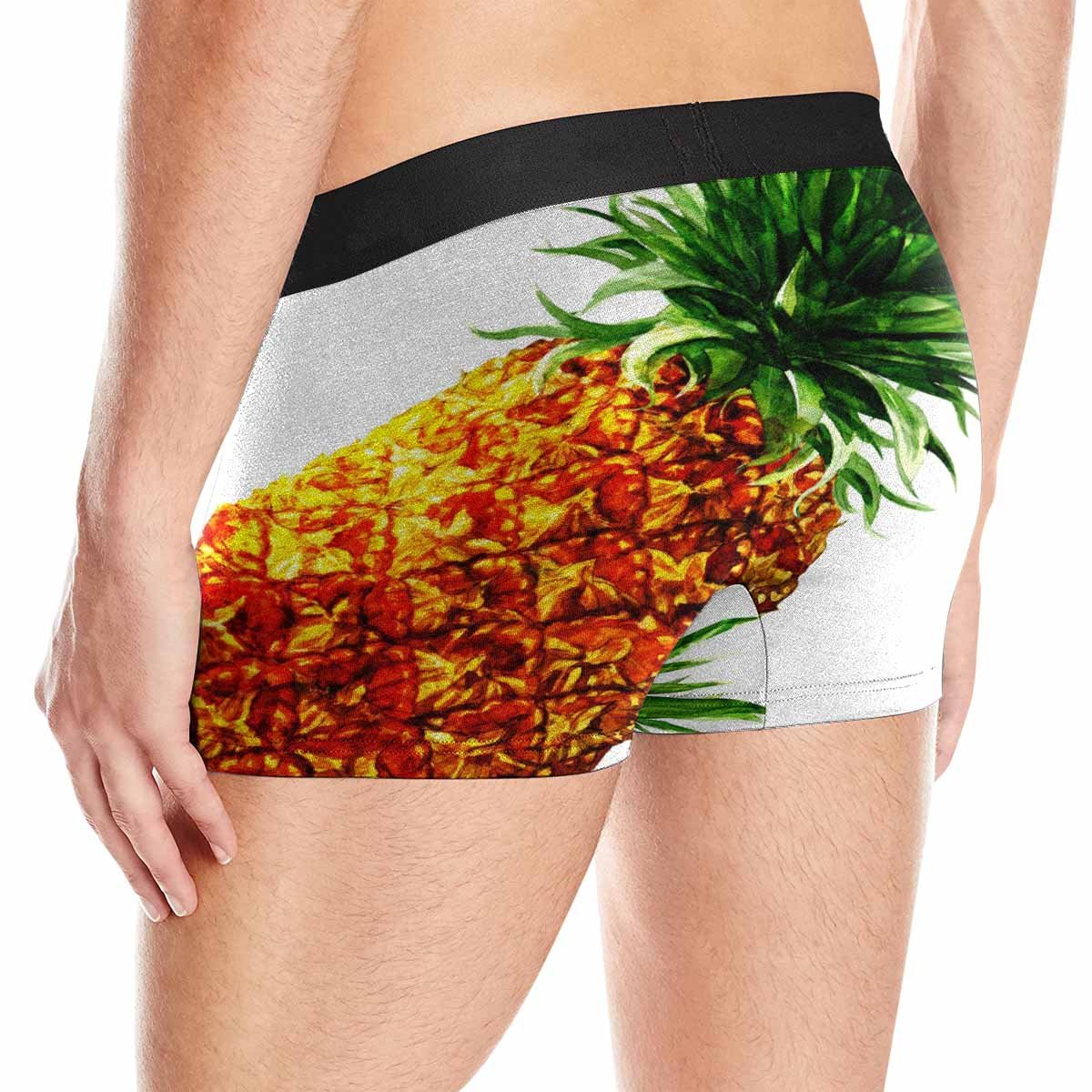 XS-3XL INTERESTPRINT Boxer Briefs Mens Underwear Watercolor Pineapple