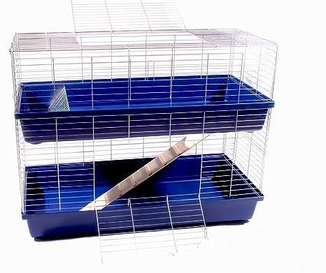 Conejo jaula cobaya jaula adolescente Animales Pequeños 2 niveles ...
