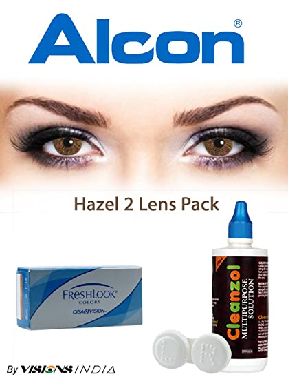 9e2094c15cd Buy Freshlook Color Contact Lenses (2 Lenses Box) Hazel Monthly Online at  Low Prices in India - Amazon.in