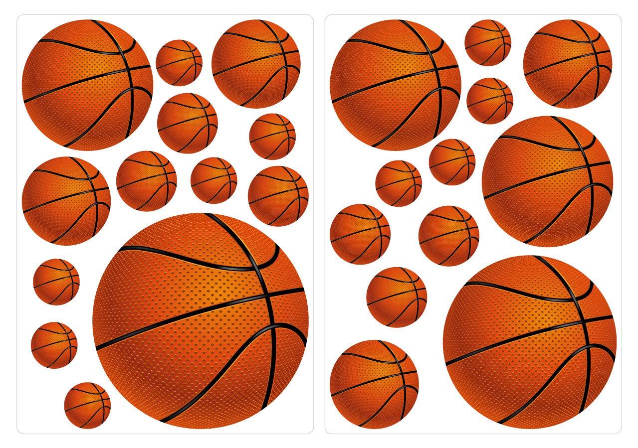 Künstlerisch Wandtattoo Basketball Dekoration Von Conceptreview: I-love-wandtattoo Was-10136 Wall Stickers Kids Basketballs