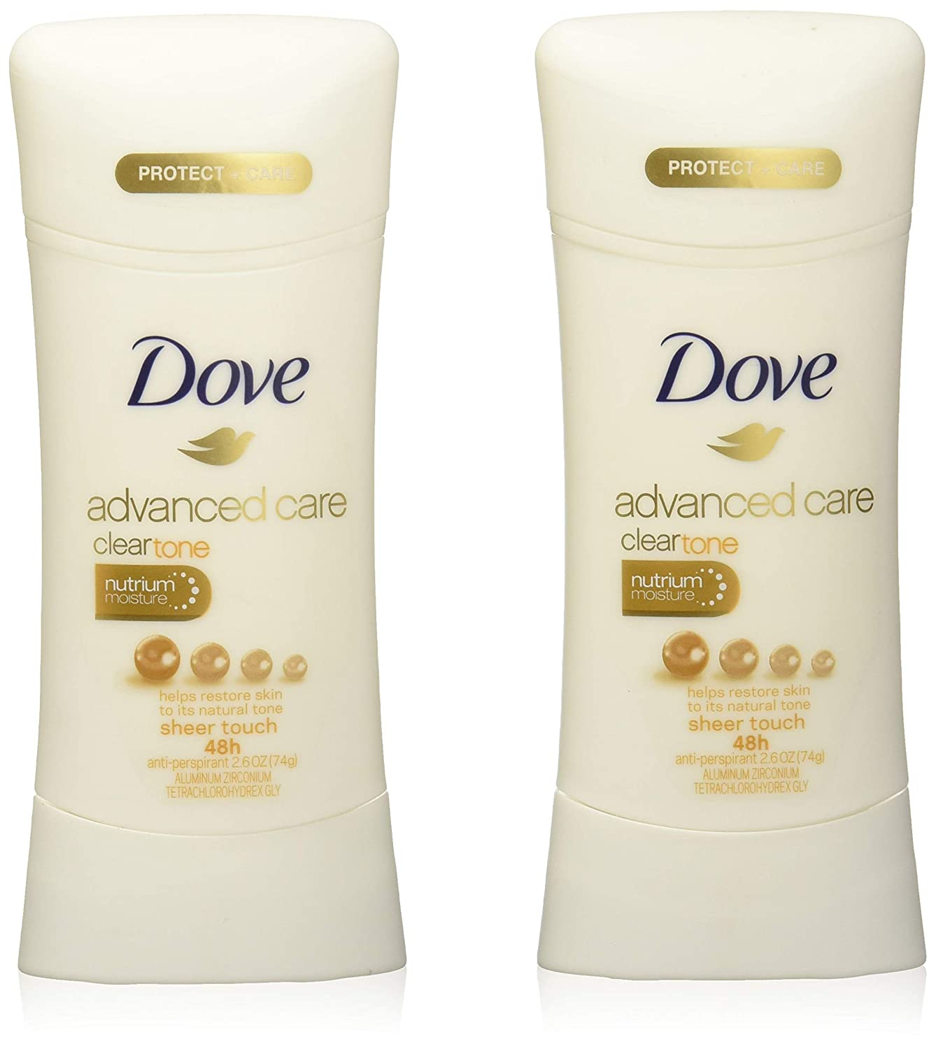 Dove Deodorant 2.6 Ounce Adv Care Anti-Perspirant Sheer Touch (76ml) (2 Pack)
