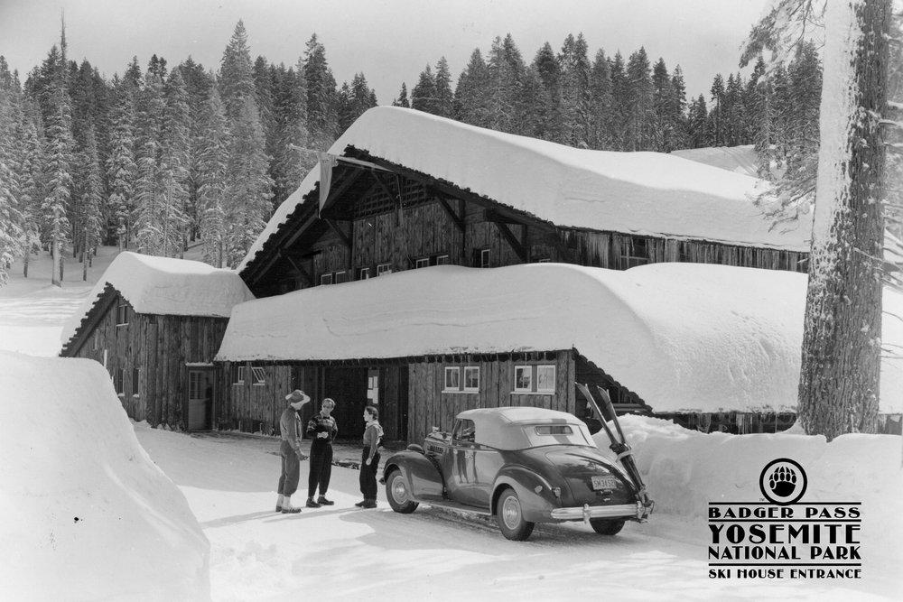 Badger Pass – スキー家Entrance – ヨセミテ国立公園、カリフォルニア 36 x 54 Giclee Print LANT-36380-36x54 B017EA0Q0M  36 x 54 Giclee Print