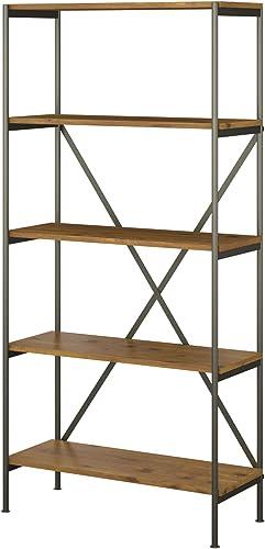 Bush Furniture kathy ireland Home Ironworks 5 Shelf Etagere Bookcase
