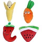 UEETEK 4 pacchetti giocattolo animali da compagnia giocattoli per cani da compagnia Cani cuccioli (carota + anguria + banana + pepe)