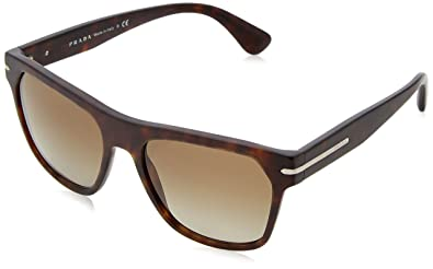 aa888ac347a Image Unavailable. Image not available for. Color  PRADA SUNGLASSES men  JOURNAL PR 02RS 2AU3O1 HAVANA gray ...