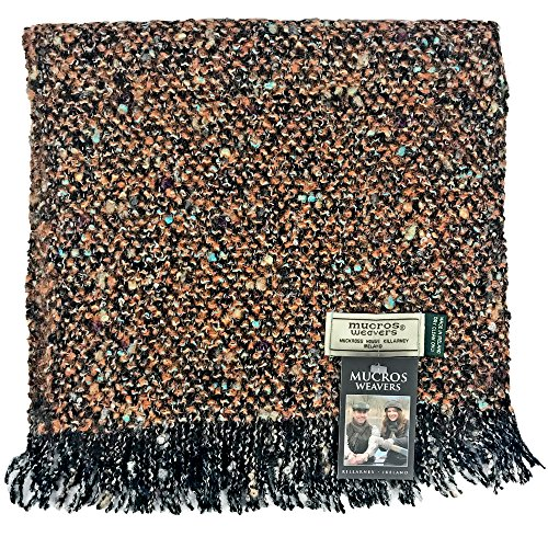 Mucros Weavers Alpaca Boucle Luxury Scarf, Woven in Ireland (AB16 (Alpaca Boucle Scarf)