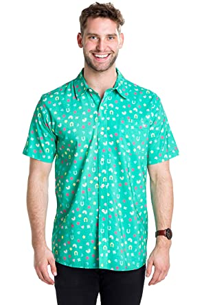 ba43db9b Men's Lucky Charmer St. Patrick's Day Button Down Shirt - Green St. Paddy's  Hawaiian