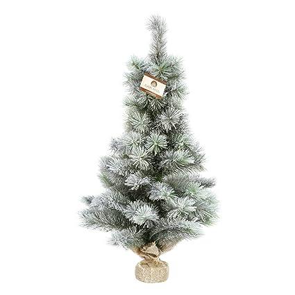 Christmas Base.Uk Christmas World 45cm Snowy Vancouver Tabletop Tree With Burlap Base