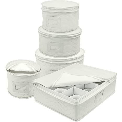 Sorbus Dinnerware Storage 5-Piece Set for Protecting or Transporting Dinnerware \u2014 Service for 12  sc 1 st  Amazon.com : dinnerware service for 12 - pezcame.com