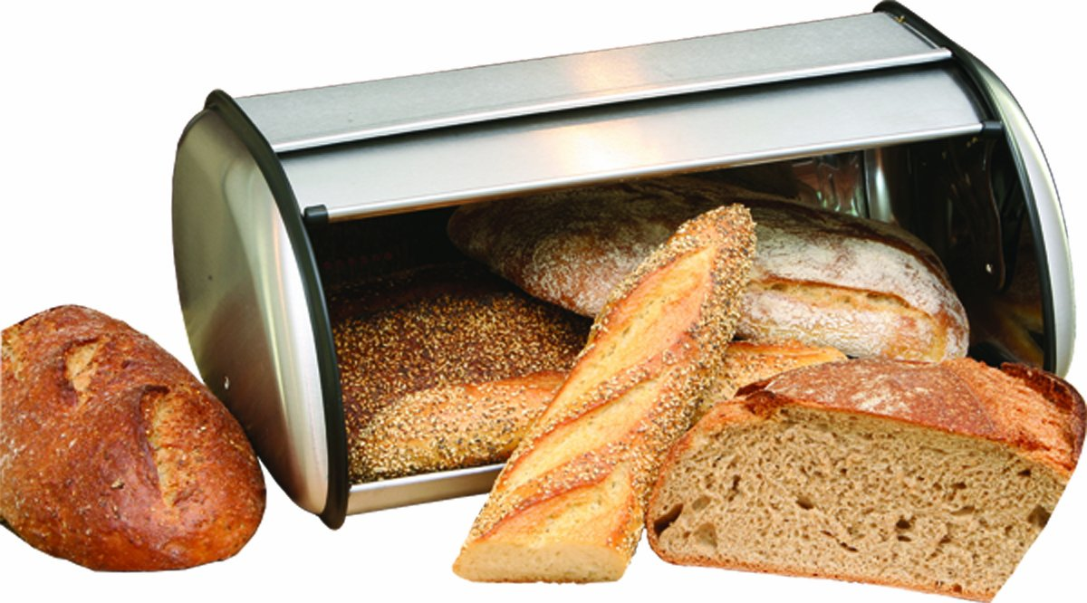 ExcelSteel Stainless Steel Bread Box 208