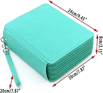Astuccio in pelle sintetica super capiente a pi/ù strati Nero matite non incluse Btsky 168/spazi per organizzare i colori e la cancelleria