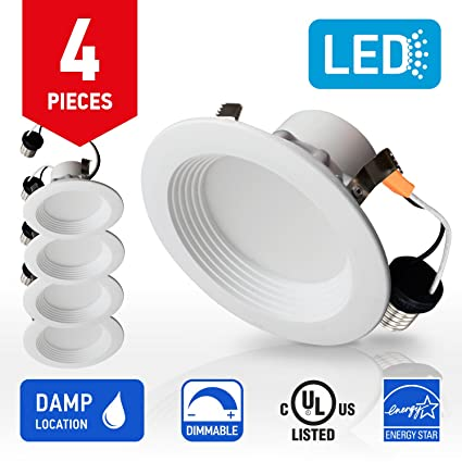 IN HOME 4-inch LED Downlight RETROFIT KIT Recessed Lighting Fixture 10.5W (  sc 1 st  Amazon.com & IN HOME 4-inch LED Downlight RETROFIT KIT Recessed Lighting Fixture ...