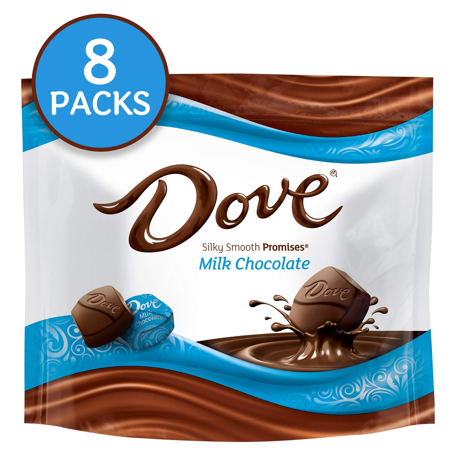 DOVE PROMISES Milk Chocolate Candy 8.46-Ounce Bag (Pack of 8)