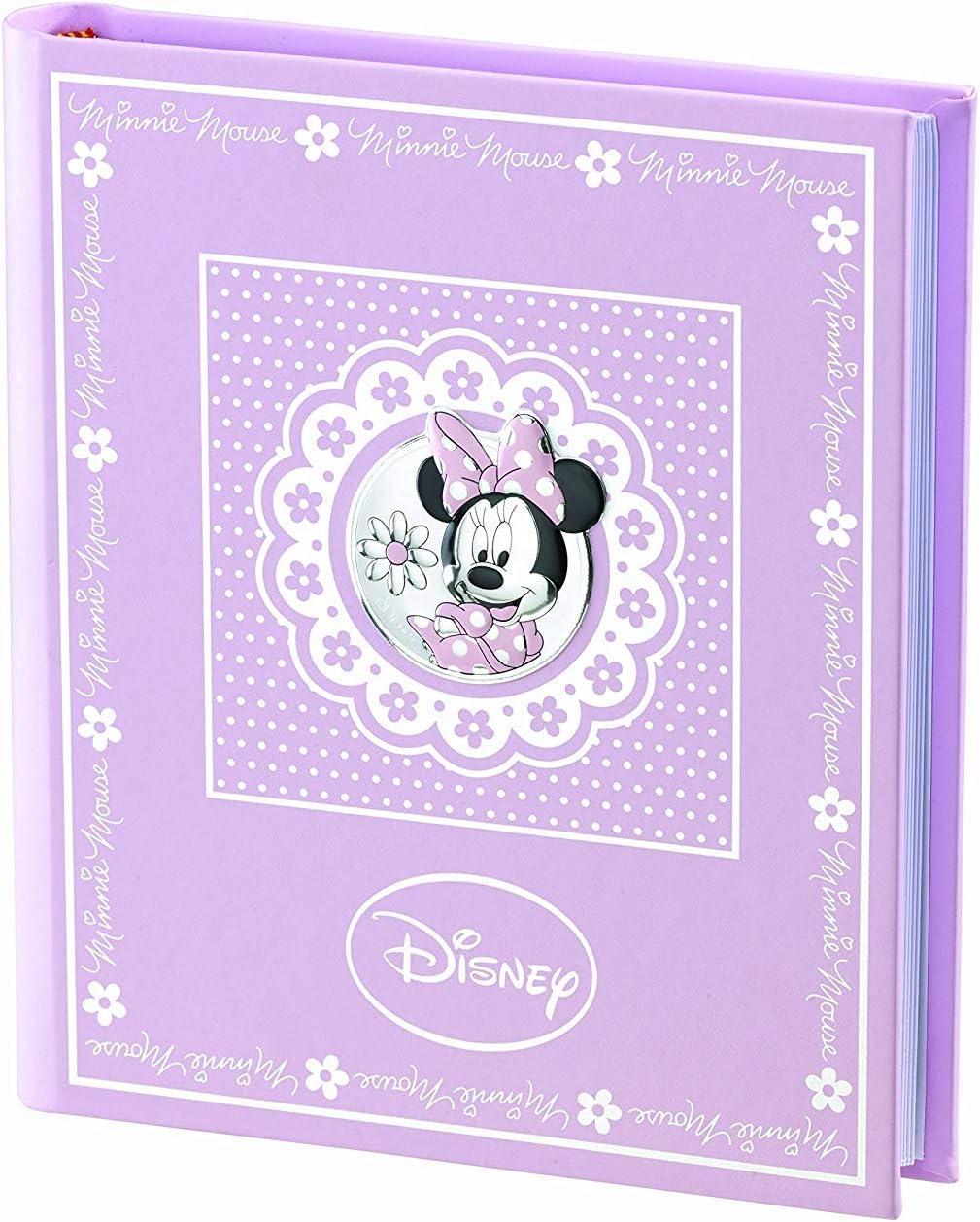 Disney Minnie Mouse – Álbum diario fotográfico portafotos para regalo de bautizo de bebé o cumpleaños infantiles