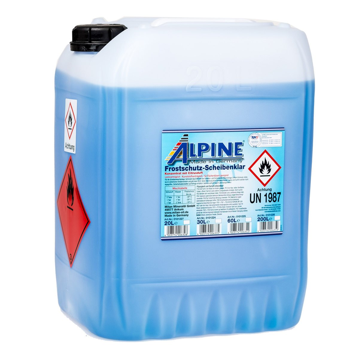 Alpine 0101222 Antifreeze Windscreen Washer, 50-100 ml of concentrate,1 Litre Dr. Starke