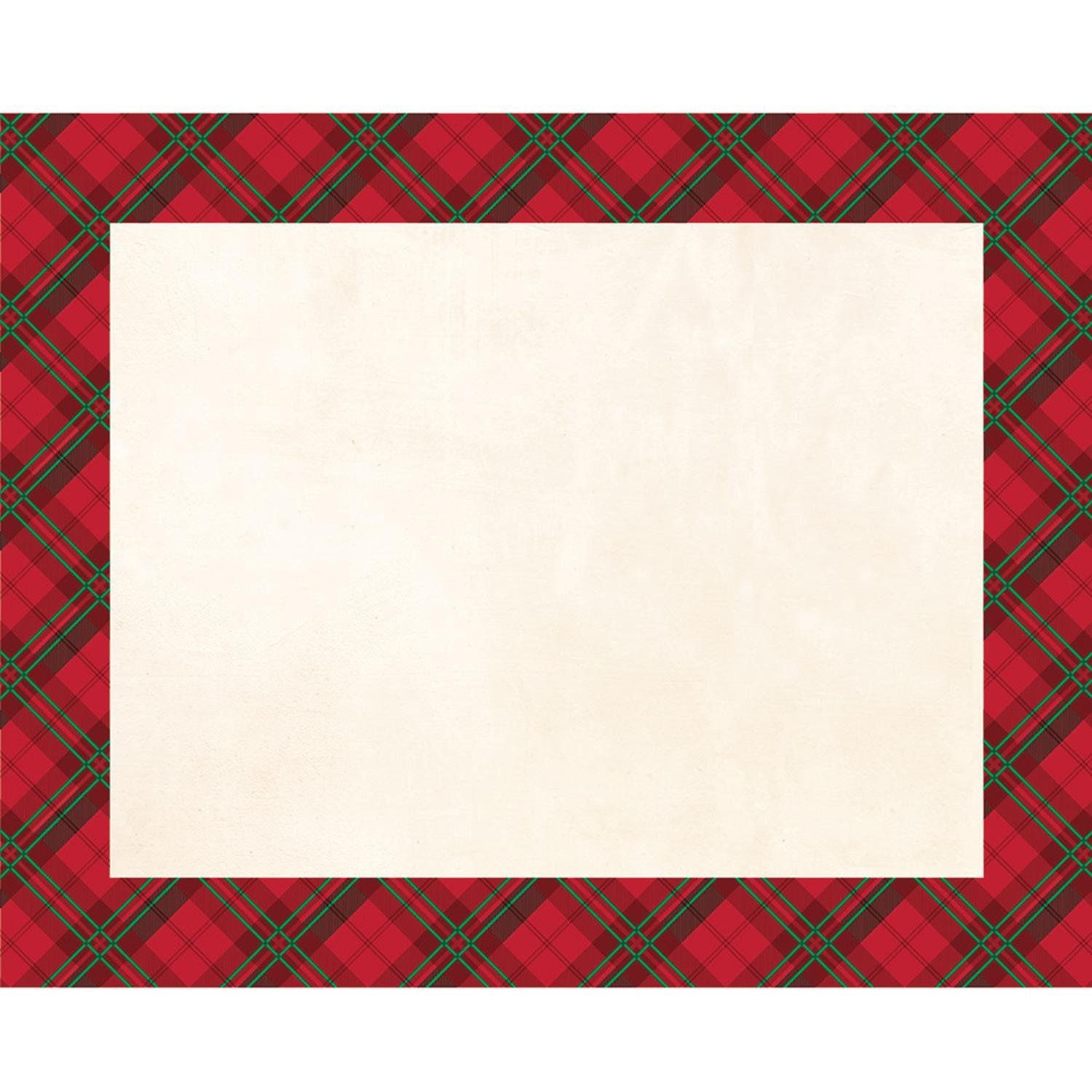 Party Central Club Pack of 144 Ivory and Red Border Decorative Rectangular Table Cover 17''