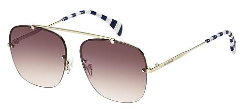 Tommy Hilfiger Unisex-Erwachsene Sonnenbrille TH Gigi HADID2 3 X Schwarz (Light Gold), 59