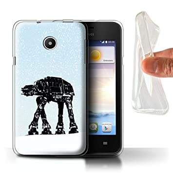 Stuff4 Phone Case for Huawei Ascend Y330 Empire Galaxy Wars Imperial AT-AT  Design Transparent Soft Flexi Gel/TPU Cover