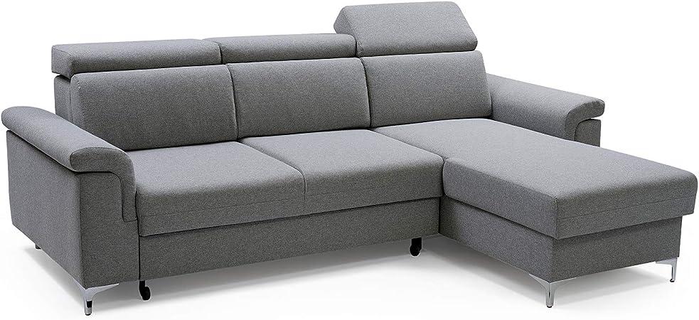 E Meubles Canape D Angle Moderne Convertibles Lit Relax Tissu Structure De Tresse Revon Gris Canape D Angle Droit Amazon Fr Cuisine Maison