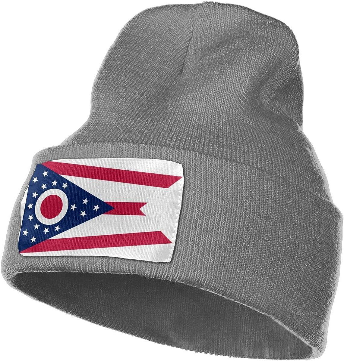 QZqDQ Ohio Flag Unisex Fashion Knitted Hat Luxury Hip-Hop Cap