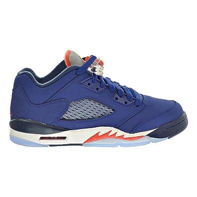 68de306a8ba4 Jordan Air 5 Retro Low (GS) Big Kid s Shoes Blue Orange White